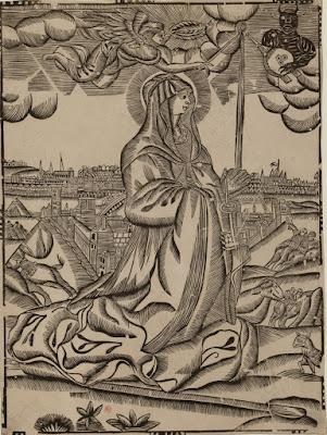 Gravure Sainte Geneviève