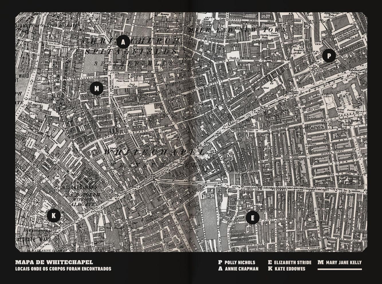 Mapa de Whitechapel