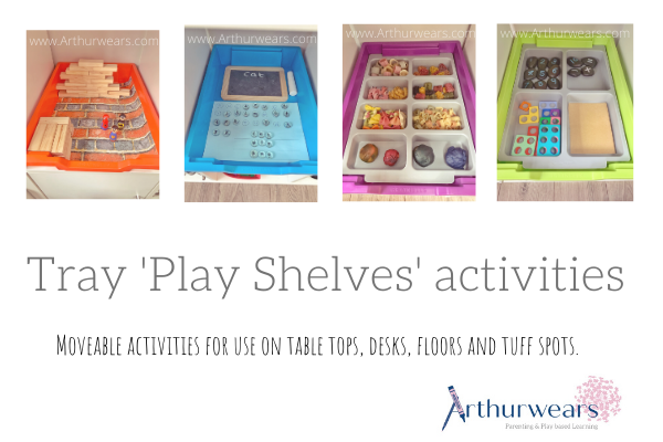 Gratnells tray play shelves activities