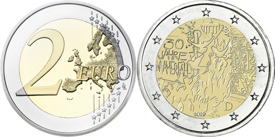 Germany 2 euro 2019 - Fall of the Berlin Wall