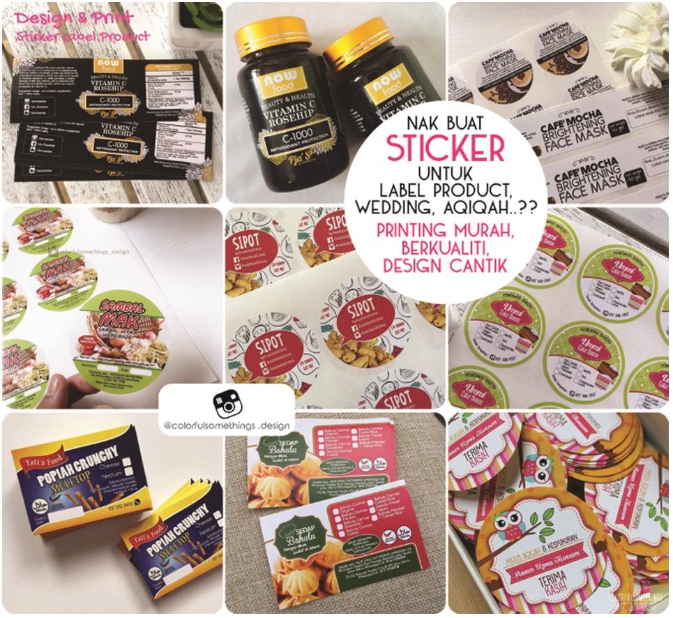 Design printing sticker murah berkualiti design standard