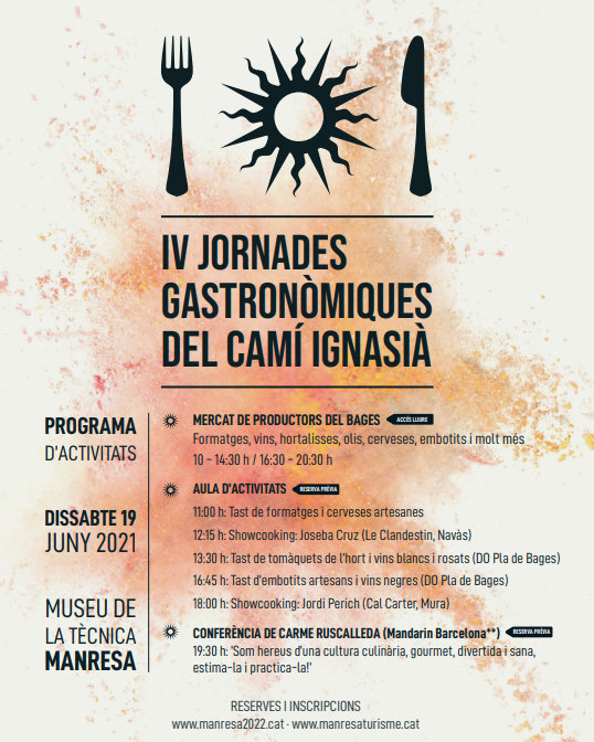 Mercat de productes bagencs a les IV Jornades Gastronòmiques del Camí Ignasià a Manresa