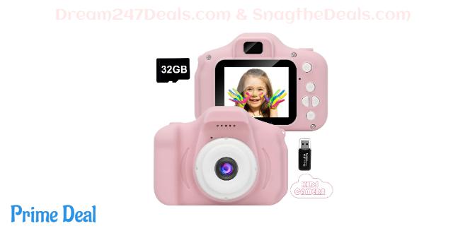 45%OFF Kids Camera,Mini Rechargeable Childrens Digital Camera Shockproof