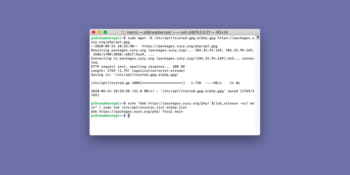 Come aggiornare a PHP 7.2