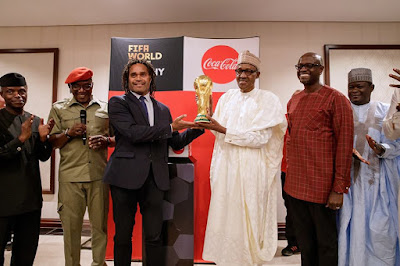 Buhari Receives The Original FIFA World Cup Trophy In Abuja