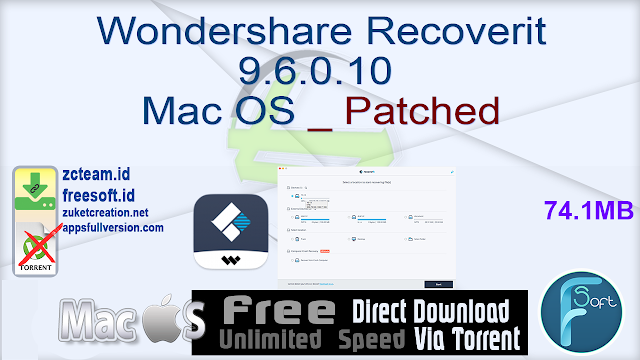Wondershare Recoverit 9.6.0.10 Mac OS _ Patched_ ZcTeam.id