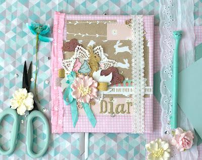 ми-ми-ми, милый, красивый, нежный дневник для девочки