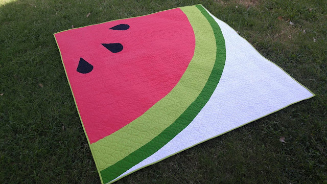 Sliced modern watermelon quilt