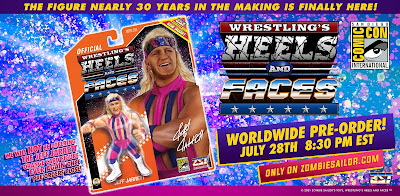 San Diego Comic-Con 2021 Exclusive Jeff Jarrett Wrestling's Heels and Faces Action Figure by Zombie Sailor Toys