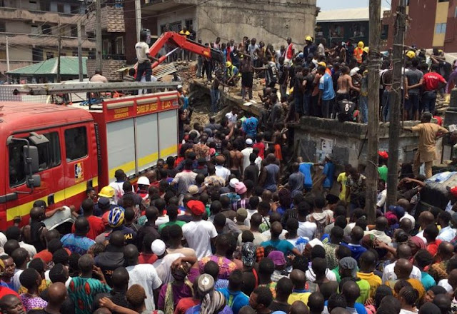 Lagos building collapse: 50 children rescued from debris as LASEMA confirms incident