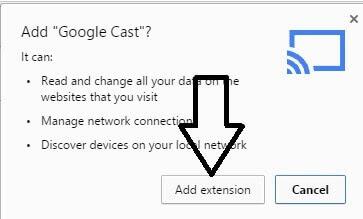 Install Chromecast extension