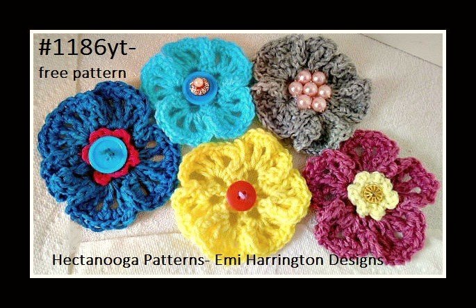 Hectanooga Patterns Free Crochet Pattern Crochet Flower 1186yt