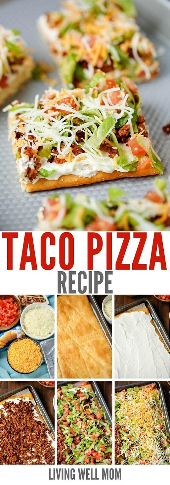 Taco Pizza Recipe #taco #pizza #pizzarecipes #tasty #tastyrecipes #deliciousrecipes