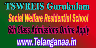 TSWREIS Gurukulam Social Welfare Residential School 6th Class Admissions Online Apply