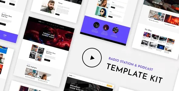 Music & Streaming Elementor Template Kit