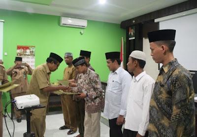 Kantor Kementerian Agama Kota Tanjungbalai Serahkan SK Penyuluh Agama Islam Non PNS