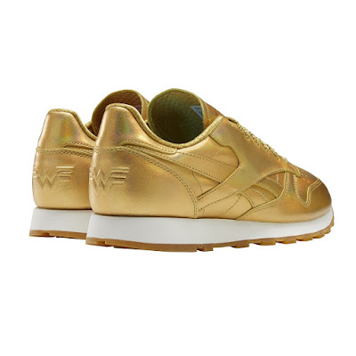 DC FanDome Exclusive Wonder Woman 1984 Classic Leather Gold Sneakers by Reebok