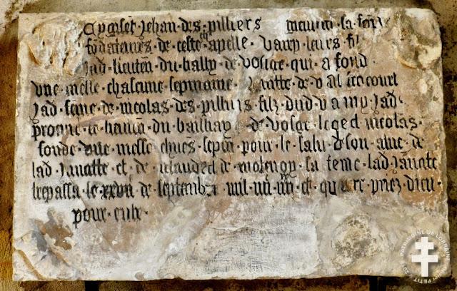 MIRECOURT (88) - Chapelle de la Oultre (Intérieur)