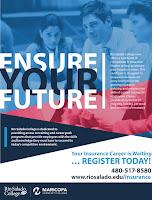Image of Insurance program flier.  See web page for full text.  www.riosalado.edu/insurance