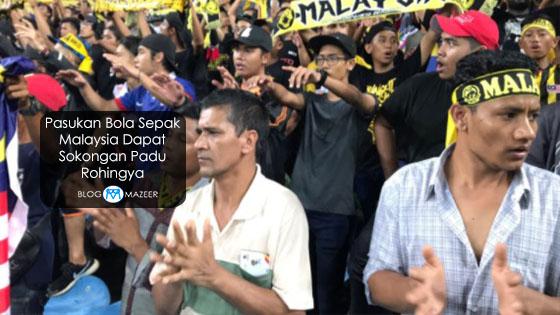 Pasukan Bola Sepak Malaysia Dapat Sokongan Padu Rohingya