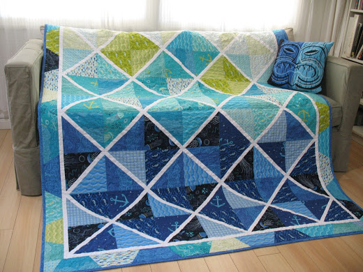 Layer Cake Lattice Quilt by Ruth from Ye Olde Sweatshop