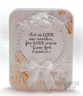 Our Daily Bread Designs Stamp Set: God Verses 2, Paper Collection: Wedding Wishes,  Custom Dies: Fancy Circles, Bitty Butterflies, Bitty Blossoms, Leaves and Branches, Rounded Rectangles, Double Stitched Rounded Rectangles