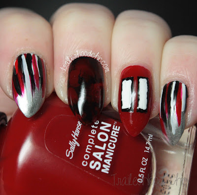 super bowl 51 atlanta falcons julio jones nail art