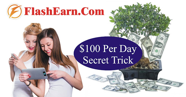 How To Earn $100 Per Day From FlashEarn.com | Secret Method