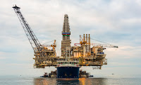 Millions went to an offshore gas exploration project in Azerbaijan, money that was counted as climate finance on the basis it reduced emissions compared to baseline. (Photograph Credit: Elnur Amikishiyev/Alamy) Click to Enlarge.