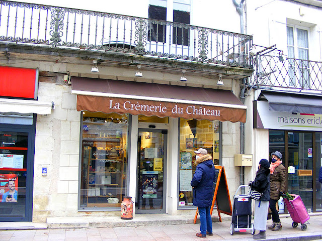 Dairy shop, Loches, Indre et Loire, France. Photo by Loire Valley Time Travel.