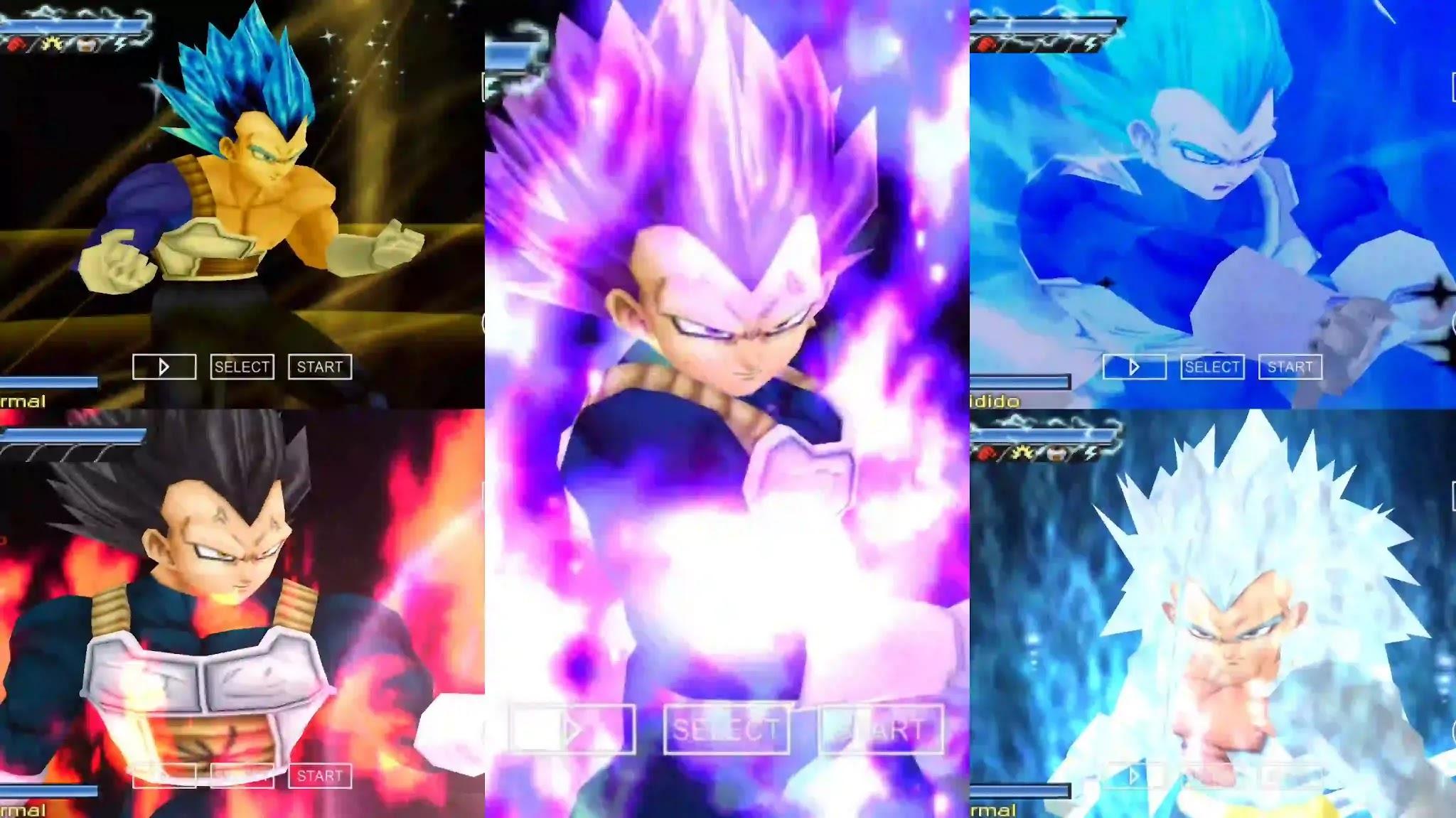 Dragon Ball Super Vegeta All Forms