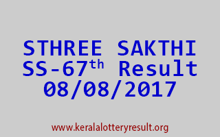 STHREE SAKTHI Lottery SS 67 Results 8-8-2017