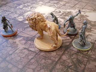 Kingdom Death: Monster survivors fight the White Lion