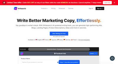 Writesonic ai copywriting software