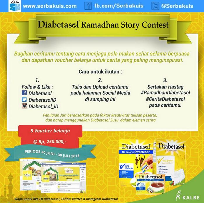 Diabetasol Ramadhan Story Contest Berhadiah Voucher Belanja