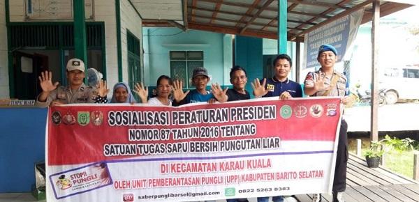 Kanitbinmas Polsek Karau Kuala Dengan ASN Puskesmas Bangkuang Sosialisasikan Perpres Nomor 87 Tahun 2016