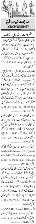 Daily Jang Newspaper Classified Jobs 2021 in Karachi