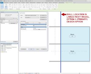 Revit:  Design Options in Linked Revit Files Not Respected as Room Boundaries