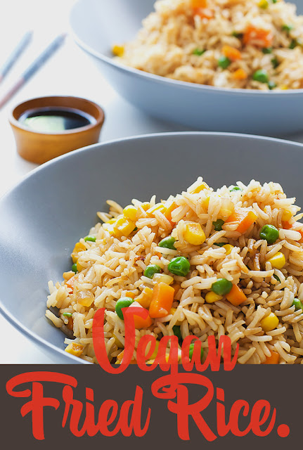 A simple Healthy Vegan Fried Rice.