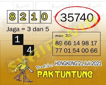 Prediksi Pak Tuntung Togel Hongkong Rabu 21 Juli 2021