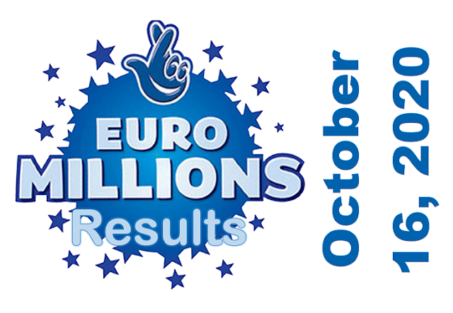 EuroMillions Results for Friday, October 16, 2020