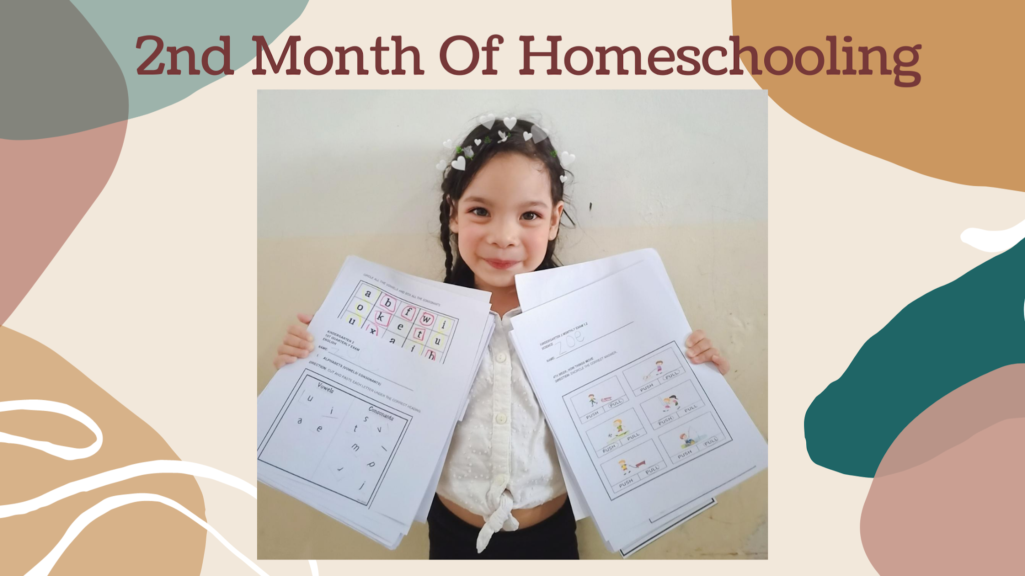 Second month of homeschooling and Zoe's progress is so impressive. Know how our second month of homeschooling went. Plus new math worksheets!
