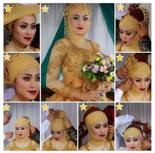 Contoh Model Hijab Pengantin keempat