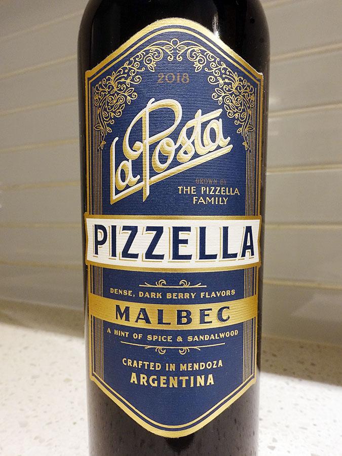 La Posta Pizzella Family Malbec 2018 (87 pts)