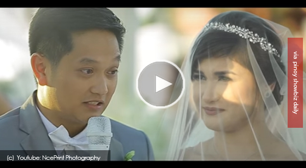 Watch: Camille Prats and husbdand VJ Yambao's wedding video