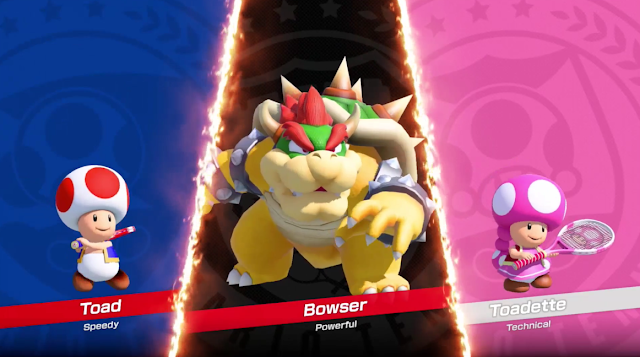 Mario Tennis Aces Toad Bowser Toadette