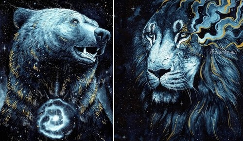 00-Jonna-Hyttinen-Blue-and-Gold-Fantasy-Animal-Watercolor-Paintings-www-designstack-co