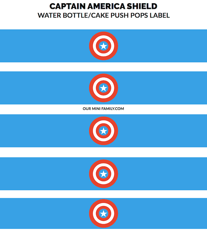 photograph relating to Captain America Printable known as MARVELS Captain The united states Defend Printable (for Drinking water Bottles