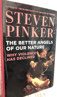 Book cover to The Better Angels of Our Nature by Steven Pinker