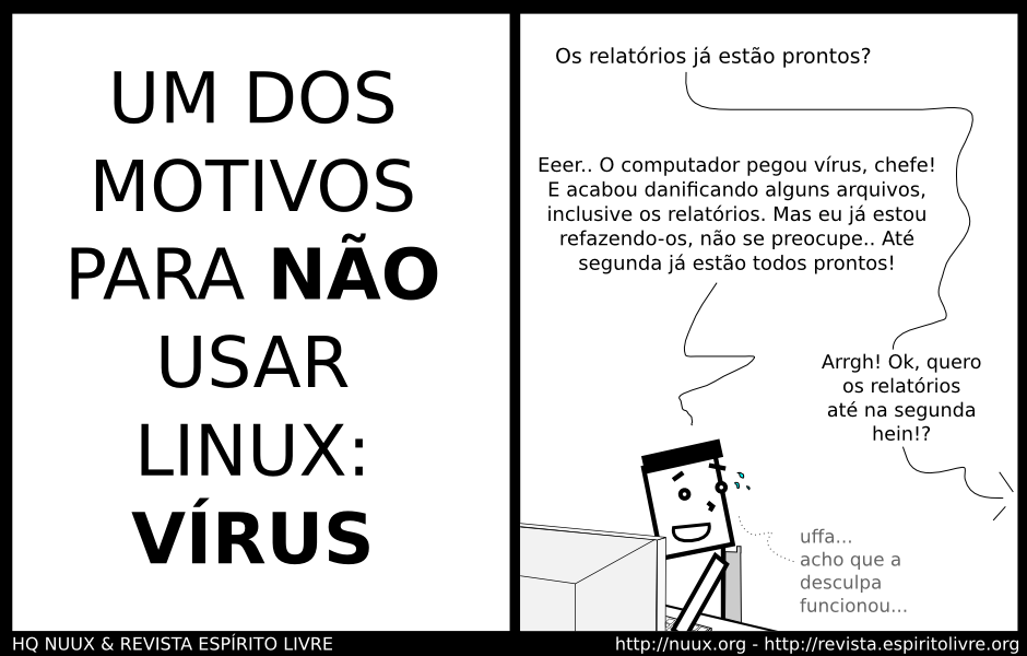 nao usar linux pelos virus
